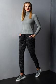 брюки Barbara Geratti by Elma 8164 черный/серый