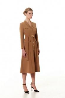 Платье Vladini DR1310 коричневый