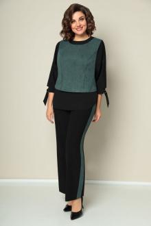 блуза,  брюки,  жилет VOLNA 1203 мятно-зеленый+черный