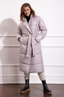 Пальто Nova Line 10276 серо-жемчужный