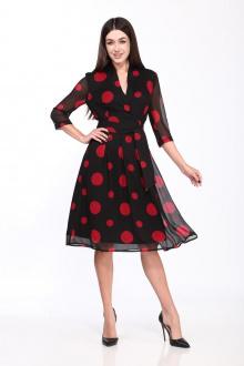 платье Karina deLux B-240К красно-черный