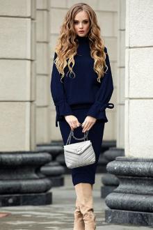 джемпер,  юбка Diva 1331-2 темно-синий