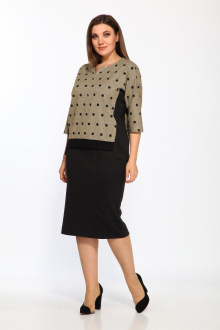 Комплект Lady Style Classic 1374/5 черно-бежевый