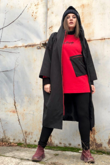 Спортивный костюм Runella 1445 черный-красный