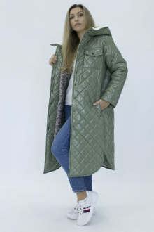 Пальто Effect-Style 835 оливковый