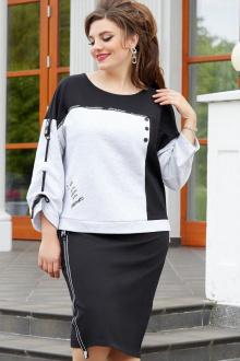 Платье Vittoria Queen 14353 светло-серый_черный