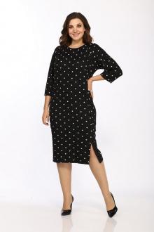 Платье Lady Style Classic 2459 черный-белый_горох