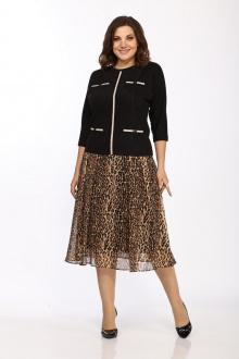Комплект Lady Style Classic 1958/1 черный-бежевый_леопард