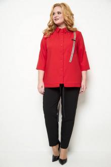 блуза,  брюки Michel chic 1269 красный/черный