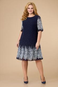 Платье Svetlana-Style 1819 синий+узор