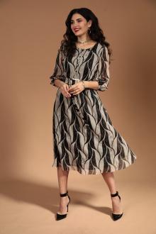Платье Твой имидж 1350 беж+черный