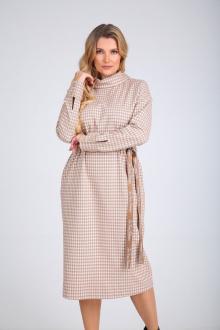 Платье SandyNa 130103 капучино_клетка