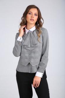 Блуза SandyNa 130416 черно-белый_клетка