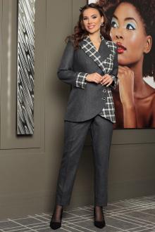 Женский костюм Мода Юрс 2537-1 серый