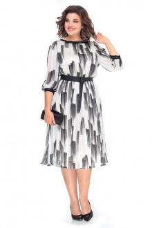 платье Мишель стиль 994 черно-белый