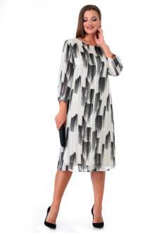 Платье Мишель стиль 995 бело-черный