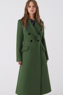 пальто PiRS 3388 серо-зеленый