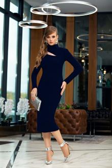 платье Diva 1356-1 синий