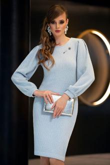 платье Diva 1357 голубой