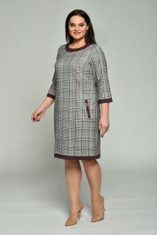 Lady Style Classic 1427-1 серый-бордо