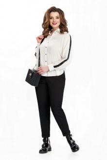 блуза,  брюки TEZA 149 черный+белый