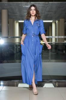 платье AMORI 9375 синий