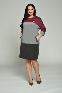Lady Style Classic 1666 серый+бордо