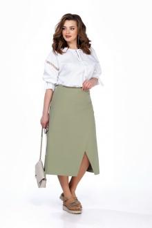 блуза,  юбка TEZA 166 олива