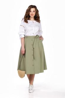 блуза,  юбка TEZA 163 олива