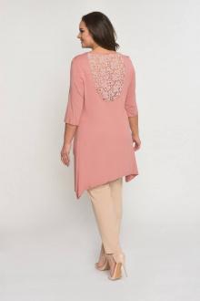 брюки,  туника Luana Plus 101 розовый/беж
