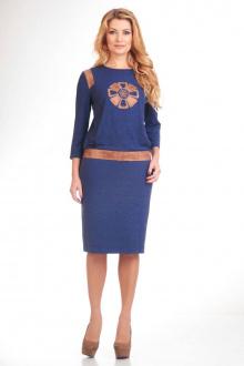 джемпер,  юбка Liona Style 509 василек