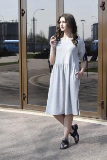 платье AMORI 9397 серый