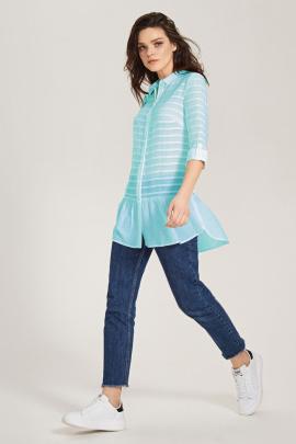 Блуза Панда 438240 бирюза