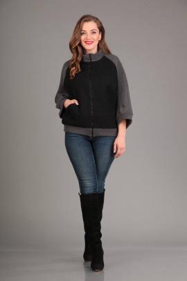 Куртка Liona Style 552 черный+серый