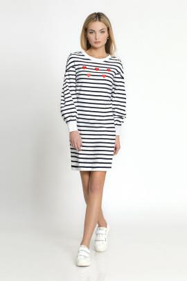 Платье Prio 173380 бело-синий