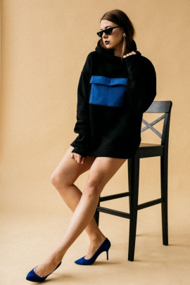Худи Rawwwr clothing 040 черный/синий