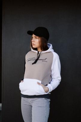 Худи Rawwwr clothing 072 графит-белый-пудра