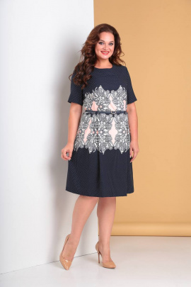 Платье Moda Versal П2060 пудра