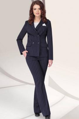 Женский костюм LeNata 31032 полоска-на-синем