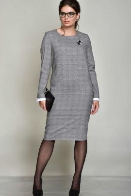 Платье ROMA MODA outlet M141 серая_клетка
