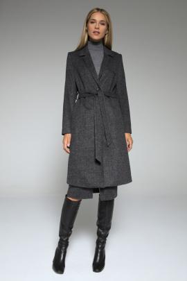 Пальто LaVeLa L70000 темно-серый