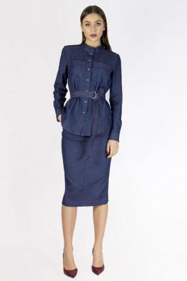 Блуза MurMur 11007 синий