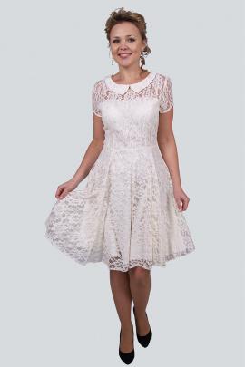 Платье Zlata 1638A молочный