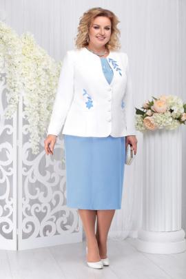 Жакет, Платье Ninele 5724 голубой
