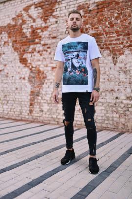 Футболка Rawwwr clothing 020 белый(цветной_принт)