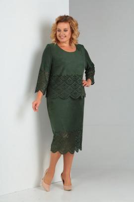Платье Diamant 1469 зеленый