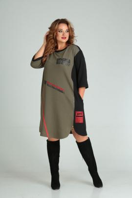 Платье SandyNa 13628 хаки