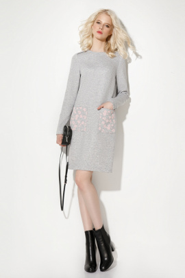 Платье Prio 706280 серый
