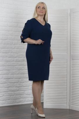 Платье VIZAVI 610 синий_с_блеском