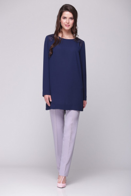Блуза Faufilure outlet С363 синий